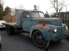 all original-1947 Ford 16ft flatbed
