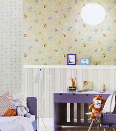 Papel de parede para a páscoa? Claro! Afinal, a criançada vai adorar ver a casa decorada com esses bichinhos fofos. Fica uma graça no quarto dos pequenos.