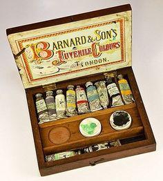 Antique c.1860s Artist Watercolor Paint Set, Chest, Box - Bernard & from antiques-uncommon-treasure on Ruby Lane
