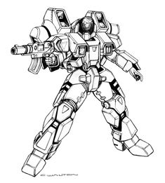 """Illustration featured in """"Robotech: The Expeditionary Force Marines"""" Sourcebook published by Palladium Books, copyright owned by Harmony Gold ©2015.  Now Shipping and Availab..."""