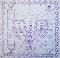 Menorah drawing