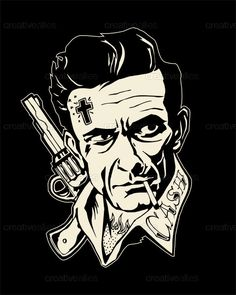 Johnny Cash Art | Creative Allies #johnnycash #johnnycashart