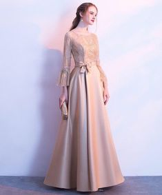 : Harika - Harika Source by - Hijab Prom Dress, Dress Brukat, Hijab Style Dress, Long Gown Dress, Muslim Dress, Dress Outfits, Dress Brokat Muslim, Hijab Gown, Gaun Dress