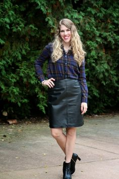 I do deClaire: Confident Twosday: Leather and Plaid