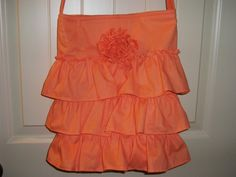 Beautiful Peach Ruffle handbag by Vintage Design By Vines  http://www.etsy.com/listing/48482177/beautiful-peach-ruffle-handbag-by?ref=sr_gallery_22_search_query=ruffled+handbag_view_type=gallery_ship_to=ZZ_min=0_max=0_page=2_search_type=all