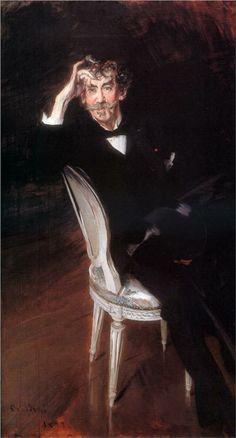 Giovanni Boldini (Italian 1842–1931) [Portraiture] Portrait of James Abbott McNeil Whistler, 1897. Brooklyn Museum, New York.