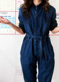 """If her jumpsuit could talk? """"I think it would say, 'You wear me a lot.' It would say, 'Give me a break!'"""""""