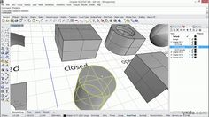 Rhino 5 tutorial: Understanding curves, surfaces, and solids | lynda.com