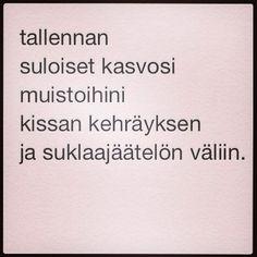 päivän runo 19.9.2014 www.instagram.fi/taideonikuista