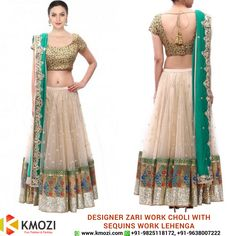 Buy the exclusive Designer Zari Work Choli With Sequins Work Lehenga for your upcoming occasion and play the eye catcher's role. Order online now or WhatsApp us at +91-9825118172 Place your order at: http://kmozi.com/ #Online #Valentine #fashion #shopping #onlineshopping #clothing #western #surat #mumbai #pune #chennai #kolkata #fashiondesigner #designer #onlinebuying #onlineselling #traditional #indianwear #occasion #fashionista #red #saree #white #blue