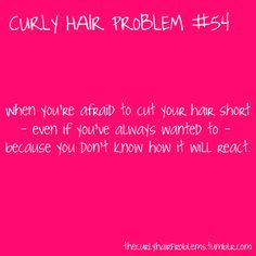 Curly hair needs special people to cut it! You have to think ahead when cutting it! Curly Hair Jokes, Curly Hair Tips, Curly Hair Styles, Natural Hair Styles, Curly Girl Problems, Natural Hair Problems, Biracial Hair, Look Short, Hair Issues