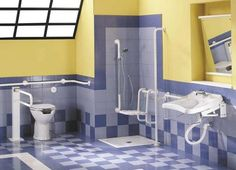 Beautiful bathroom designs for people with disabilities colors and design POP Ada Bathroom, Handicap Bathroom, Open Bathroom, Kid Bathroom Decor, Remodel Bathroom, Bathroom Remodeling, Bathroom Ideas, Bathroom Design Tool, Bathroom Designs Images