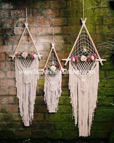 Bali Dream Catcher on Triangle wedding dreamcatcher, send me a message for retail and wholesale prices Dream Catcher Bedroom, Lace Dream Catchers, Dream Catcher Craft, Dream Catcher Boho, Dream Catcher Wedding, Diy Wedding, Wedding Gifts, Dream Wedding, Wedding Ideas