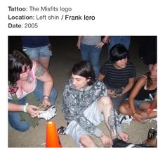 Frank Iero / The Misfits Logo tattoo 🖤 Frank Iero Tattoos, Frank Lero, I Fall Apart, Mikey Way, The Other Guys, Man Child, Emo Bands, Body Mods, My Chemical Romance