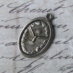 Vintage Italian Holy Spirit & Saint Anthony Patron Of Lost Things American Catholic Medal