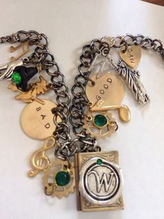 Wicked the musical   wizard of OZ  charm bracelet  by TheMeltonPot, $38.00