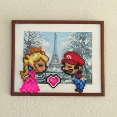 Mario loves Peach • Eiffel tower • Creatief Doen •