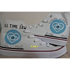 "All Time Low future hearts"" Shoes ($51) ❤ liked on Polyvore featuring shoes, lullabies, waterproof shoes, water proof shoes, heart shoes, low shoes and waterproof footwear"