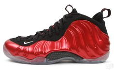 uk availability 9909c 6c76a Coated in a shiny red, the Nike Air Foamposite One