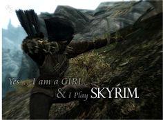 Girl Skyrim Players