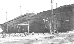 """The """"Kaiserin Elisabeth"""" t) of the Austro-Americana, at the shipyards of Monfalcone, was never completed. The hull was later used as an artillery observation post. Istanbul, Carnival Corporation, Austro Hungarian, Ellis Island, Newport News, Trieste, World War I, Titanic, Cruises"""