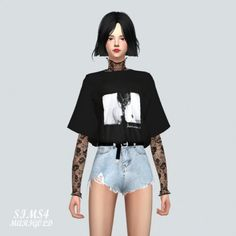 Layering Lace Top by Marigold for The Sims 4