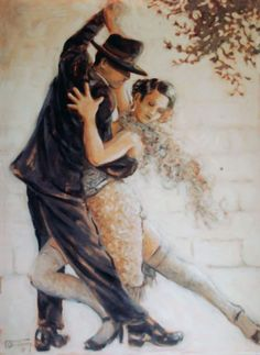Tango Passion from painter Janet Kruskamp.: