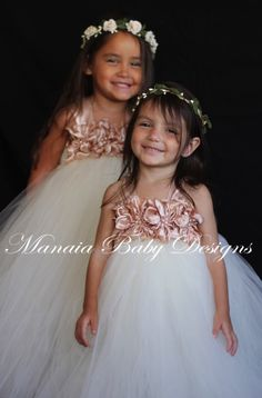 COLOR OF DRESS Can Be Changed / Blush Flower by ManaiaBabyDesigns