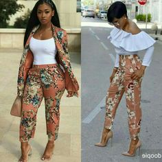 Pants, tops African Attire, African Wear, African Dress, Classy Outfits, Chic Outfits, Fashion Outfits, Latest African Fashion Dresses, African Print Fashion, Fashion Line