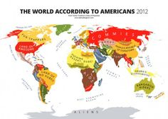 World map according to American Students