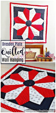 Patriotic Dresden Plate Quilted Wall Hanging