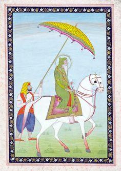 Maharaja Ranjit Singh on horseback, unknown artist, Punjab, Museum no. Maharaja Ranjit Singh, Mughal Empire, Victoria And Albert Museum, Hinduism, Incredible India, Indian Art, Mythology, Religion, Miniatures