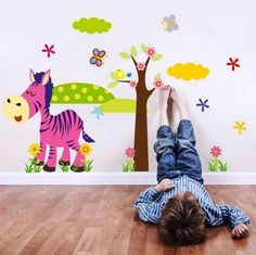 Cartoon Animal Forest Wall Stickers Decals For Nursery and Kids Room Home Decor #Unbranded #Cartoon