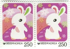 "According to Chinese lunar calendar, 2011 is Xin-Mao Year, or the Year of the Rabbit. In real life, rabbit is a favorite of people because its tamed, lively, and lovely nature. In traditional Chinese culture, while the three-legged crow represents the sun, rabbit is synonymous with the moon..."" —China National Philatelic Corporation, - See more at: http://designrelated.com/inspiration/view/Karen/entry/4371/year-of-the-rabbit-stamps-from-around-the-world"