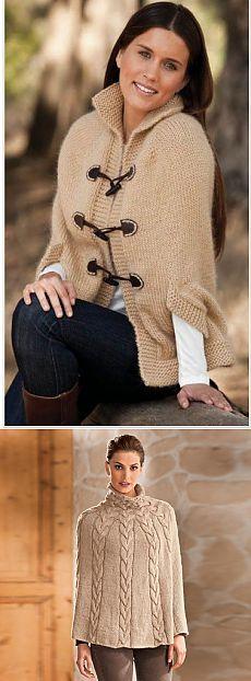 Capa elegante y poncho para el clima frío - Artesanía