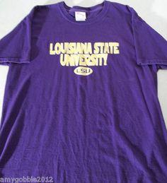 LSU Louisiana State University Mens T Shirt Size L  $14.55 FREE shipping!!