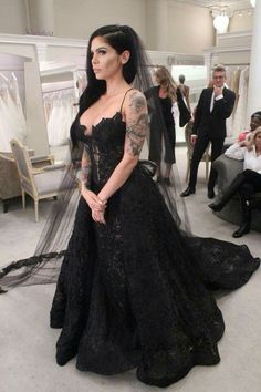Here is Black Wedding Dresses Idea for you. Black Wedding Dresses strapless black wedding dresses bridal gowns from dressydances. Spaghetti Strap Wedding Dress, Wedding Dresses With Straps, Dream Wedding Dresses, Spaghetti Straps, Halloween Wedding Dresses, Gothic Wedding Dresses, Modest Wedding, Trendy Wedding, Elegant Wedding