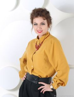 406db952f411268 Рубашка женская горчичного цвета – купить в интернет-магазине на Ярмарке  Мастеров с доставкой