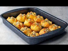 Mikor meglátod mennyire egyszerű és ízletes, dupla adagot fogsz készíteni!  Ízletes TV - YouTube Party Snacks, Biscuits, Flan, Baked Potato, Cauliflower, Food And Drink, Pizza, Bread, Vegetables