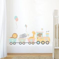 Jungle Monkey Children's' Wall Sticker Set | Etsy Baby Room Wall Stickers, Nursery Wall Stickers, Childrens Wall Stickers, Baby Room Wall Art, Baby Room Decor, Nursery Room, Train Nursery, Bedroom, Girl Nursery