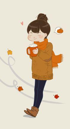Invierno y capuccino buena combinación ♥