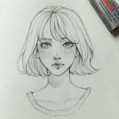 New Drawing Sketches Girl Faces Character Design Ideas Girl Drawing Sketches, Face Sketch, Sketch A Day, Art Drawings Sketches Simple, Pencil Art Drawings, Drawing Faces, Drawing Tips, Drawing Ideas, Girl Face Drawing