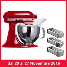 FANTASTICA PROMOZIONE KITCHEN-AID  Dal 20 Novembre al 27 Novembre trovi l'Impastatore Artisan (con 3 trafile pasta in omaggio) in promo al 20%   http://www.cucinaincasa.com/novita/promozioni/sconti/impastatore-kitchen-aid-artisan-sconto-20-3-trafile-omaggio  #villamontesiro #fratelli_villamontesiro #villa_casalinghi #ul_piatè_de_munt #promozione