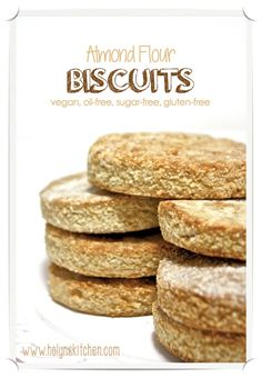 Almond Flour Biscuits. Vegan, Oil-free, Sugar-free and Gluten-free!
