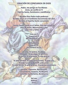 Holy Spirit Prayer, Prayer For Peace, Morning Prayer Quotes, Morning Prayers, Catholic Prayers In Spanish, Spiritual Prayers, Prayer Board, Dear God, Trust God