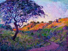 Landscape Paintings and photographs : Oaken Path Modern Impressionism | Contemporary Landscape Oil Paintings for Sal