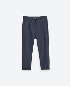 Imagen 8 de PANTALÓN CROPPED de Zara Zara, Pajama Pants, Pajamas, Sweatpants, Fashion, Men, Pjs, Moda, Sleep Pants