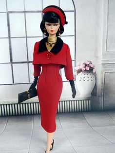 OOAK 1950's Winter Fashion for Silkstone Barbie by Joby Originals