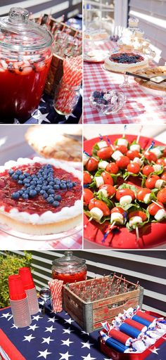 love patriotic decor for parties