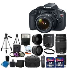 Canon EOS Rebel T5 18MP EF-S Digital SLR Camera Bundle